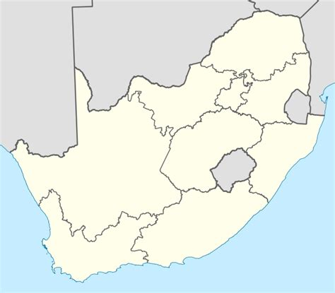 Outline Map Of South Africa With Major Cities by File Map Of South Africa With Provincial Borders Svg Wikimedia Commons
