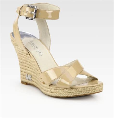 michael kors kami wedge sandal michael michael kors kami patent leather espadrille wedge