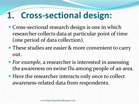 cross sectional studies definition nonexperimental research design