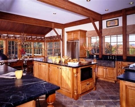 Open Floor Plans With Large Kitchens by Post And Beam Kitchens With Floor Plans That Work Yankee