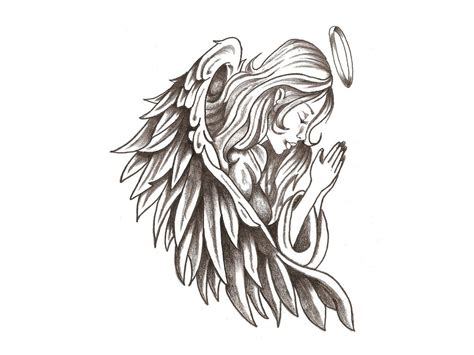 hd tattoo drawing beautiful angels images of sketch drawings hd how to draw