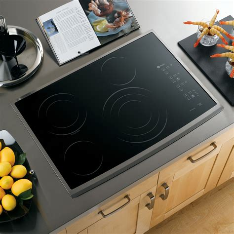 30 in electric cooktop ge profile series pp945smss 30 quot built in electric cooktop