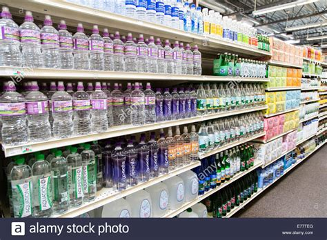Shelf Bottled Water by Bottled Water On Store Shelf Green Tea Lifestyle Trends