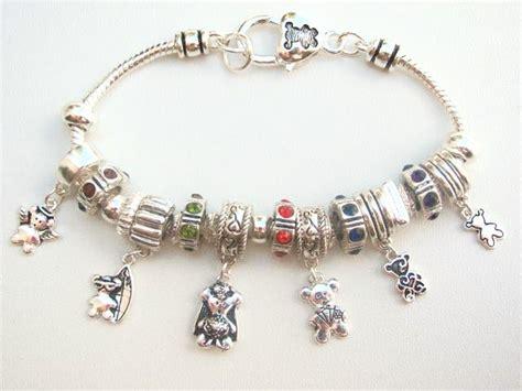pandora bead pandora inspired teddy charm bead bracelet