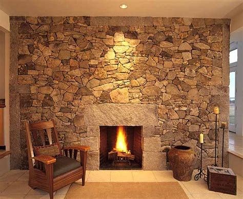 Stone Wall Fireplace | 40 stone fireplace designs from classic to contemporary spaces