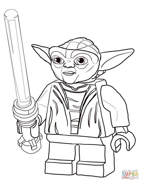 coloring pages wars lego lego wars master yoda coloring page free printable