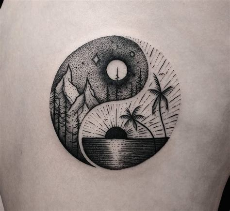 yin yang summer amp winter balance symbol best tattoo