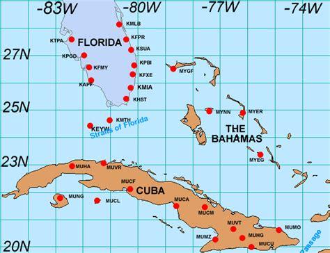 cuba and florida map observations cuba and southern florida