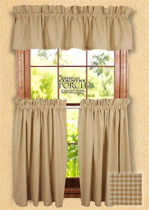 country porch curtains cottage wheat minicheck curtain valances