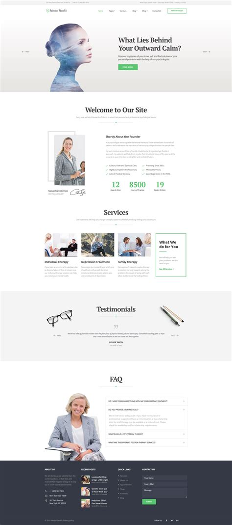 responsive website templates for quiz psychologist responsive website template 58993