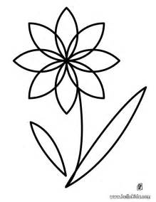 coloring pages of simple flowers flower coloring pages hellokids