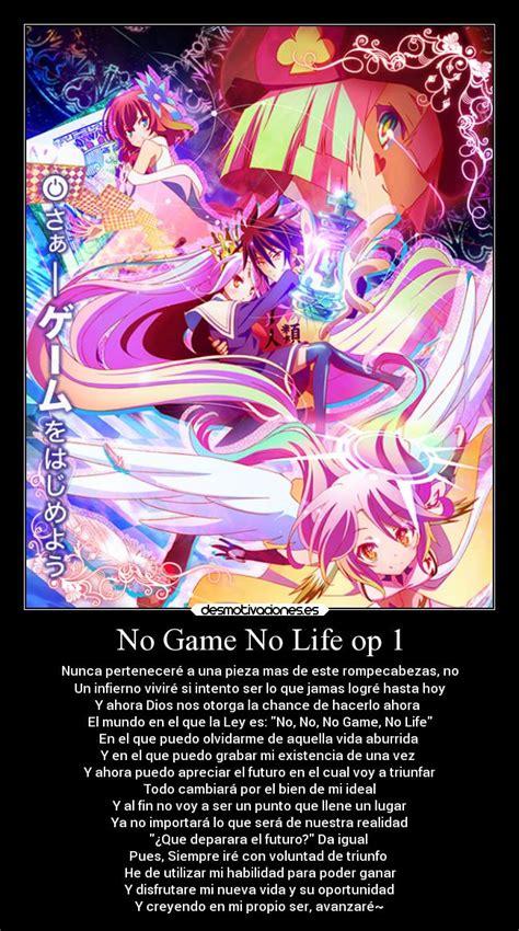 cinemaxx no game no life no game no life op 1 desmotivaciones