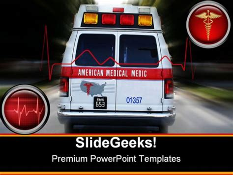 ambulance powerpoint template ambulance powerpoint template 0610