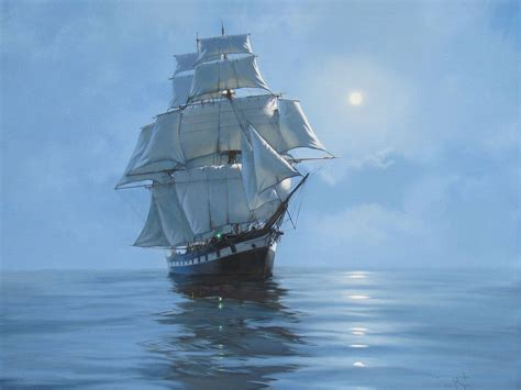 boat art fantasy ship boat art artwork ocean sea wallpaper