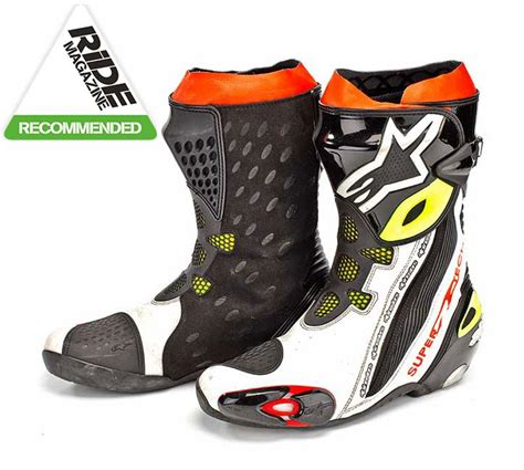 ride tech motorcycle boots ride review alpinestars supertech r boots mcn