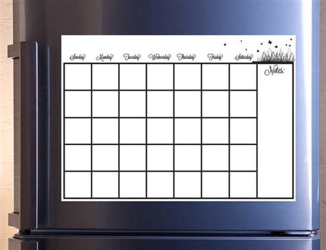 Erase Monthly Calendar Monthly Calendar Erase Removable Wall Vinyl Kitchen