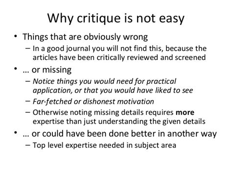 Critique Research Paper Powerpoint Presentation by Research Article Critique Presentation