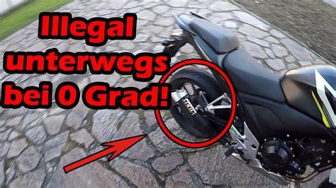 Motorrad Fahren Ohne Db Killer 2015 by Ohne Db Killer Im Winter Motorrad Fahren Youtube