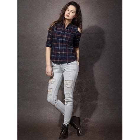 Fulla Sweater Navy buy roadster s checkered navy blue casual shirt looksgud in