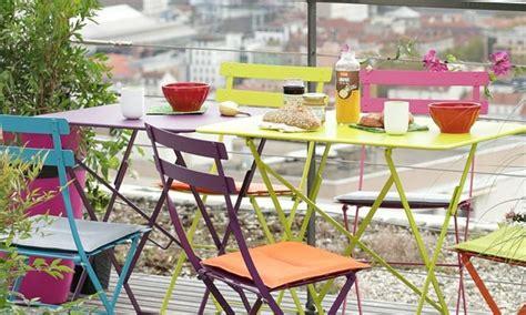 sillas  mesa jardin aluminio colores hoy lowcost
