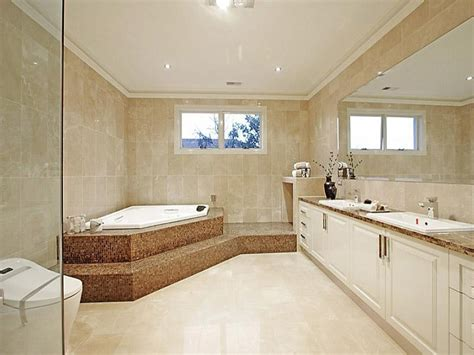 classic bathroom design with corner bath using glass