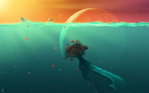 background meaning planet fish hd digital universe 4k wallpapers