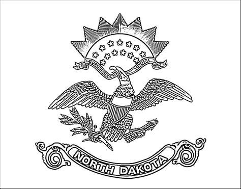 north dakota flag coloring page purple kitty