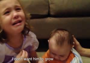 Baby Grow Up i don t want him to grow up drama for five year as she sobs that baby will get