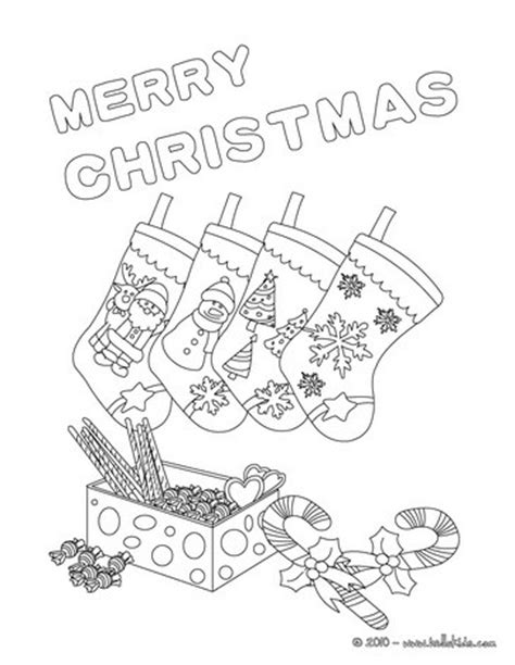 Stockings Design Coloring Pages Hellokids Com Merry Card Coloring Pages
