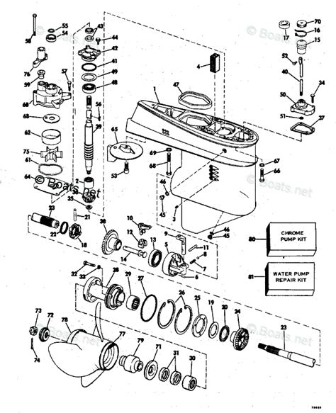 boats net evinrude parts evinrude outboard parts by year 1977 oem parts diagram for