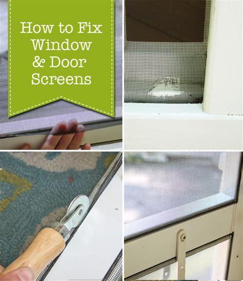 How To Fix Glass Door How To Fix Window Door Screens Pretty Handy Bloglovin