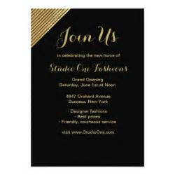 shop opening invitation templates gold accent grand opening invitations