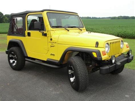 2000 Jeep Sport Accessories Jeep Wrangler Sport Gilbert Jeeps And 4 215 4 S