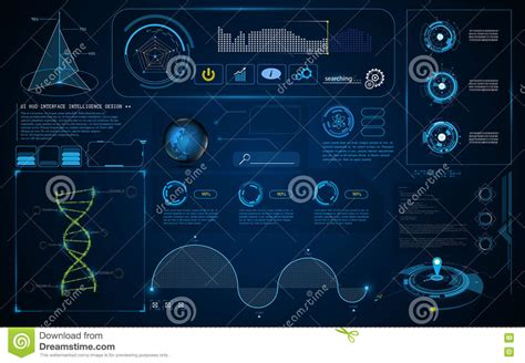 abstract interface pattern abstract hud interface ui screen smart technology