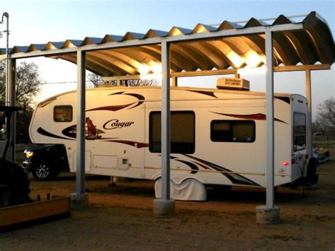 trailer garage custom steel rv carport quonset hut news pinterest