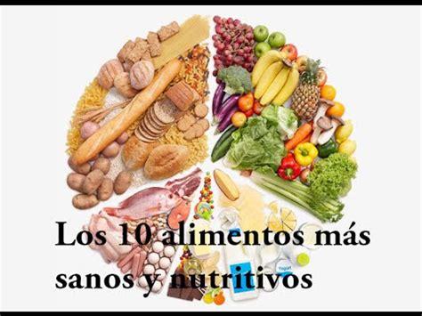 alimentos sanos los 10 alimentos m 225 s sanos y nutritivos