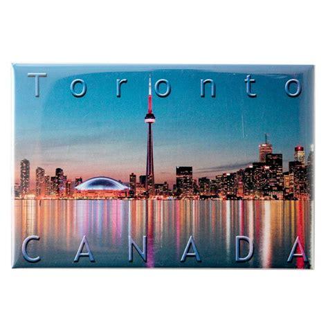 Souvenir Negara Canada Tempelan Magnet Tower Toronto canada souvenirs gifts photo magnet toronto skyline at