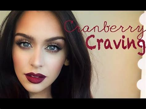 Eyeshadow A Seri E cranberry craving color series makeup tutorial makeup