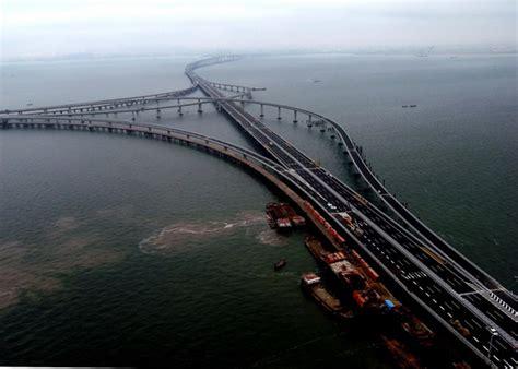 qingdao bridge china opens world s longest sea bridge