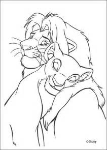 King Simba Coloring Pages sweet simba and nala coloring pages hellokids