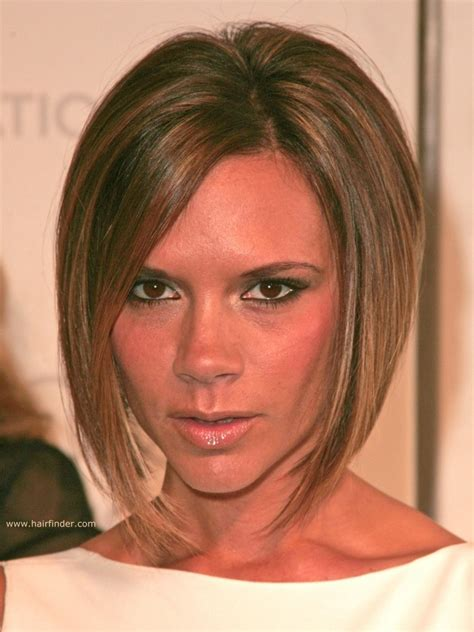 haircuts victoria point victoria beckham longer in the front bob with a stacked nape