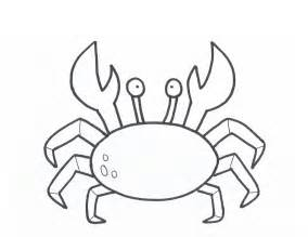 crab outline printable crab coloring pages coloring me