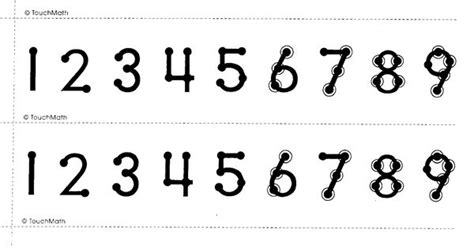 printable touch math number line printable touchmath number line here are some tools we