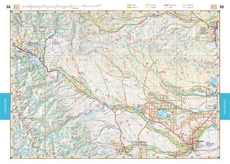 wyoming road map wyoming road recreation atlas benchmark maps