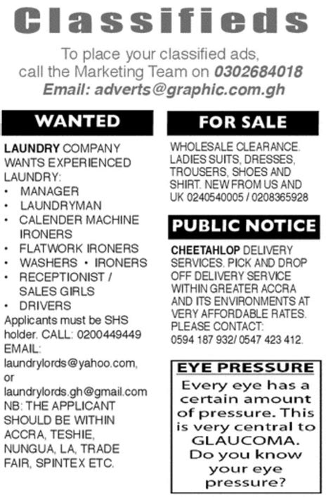Thursday: Advertised jobs in newspapers today