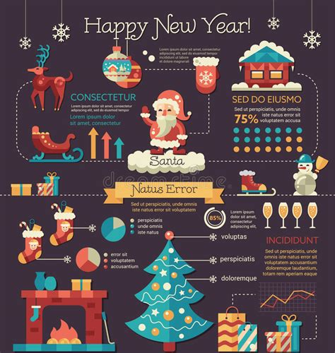 templates brochure happy new year happy new year poster brochure cover template stock