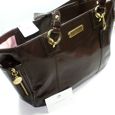 Coach Gallery Patent Handbag by Coach Gallery Patent Leather Zip Tote Bag 20431 Coach 20431