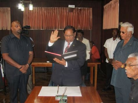 Guyana Cabinet by New Cabinet Members Sworn In Several Ministries Renamed