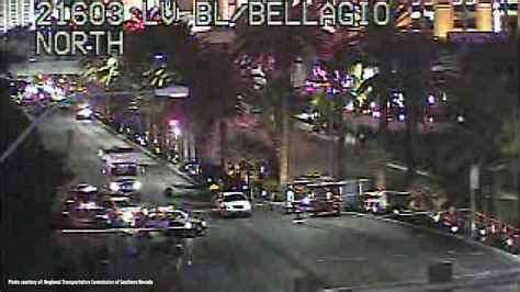 bellagio las vegas front officer involved shooting in front of bellagio shuts down
