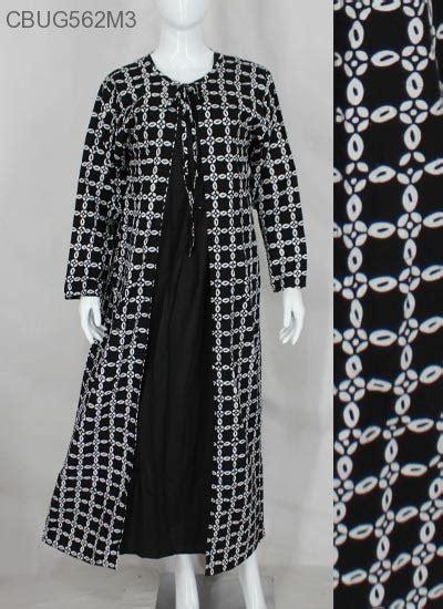 Stelan Anak Motif Batik Hitam Putih Berompi Size 80 120 gamis cardigan hitam putih klasik gamis batik murah batikunik